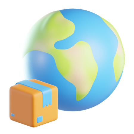 Worldwide Delivery 3D Illustration