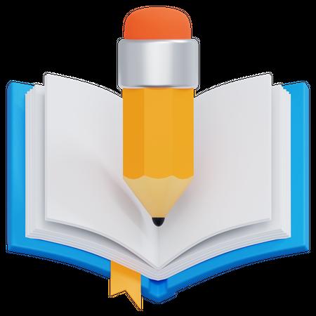 Writing Book 3D Illustration