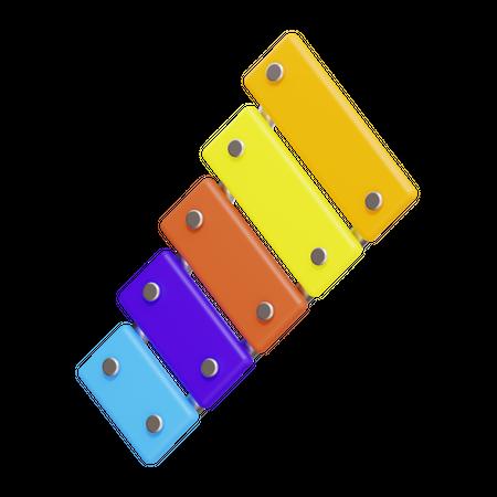 Xylophone 3D Illustration