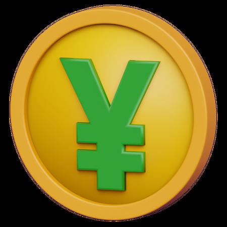 Yen Coin 3D Illustration