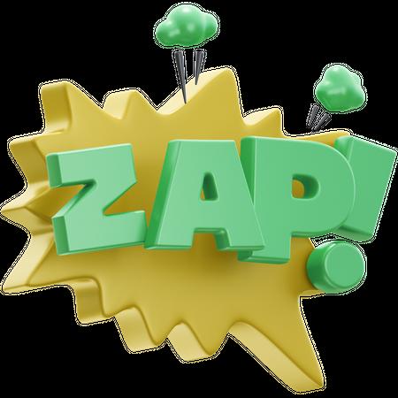 Zap 3D Illustration